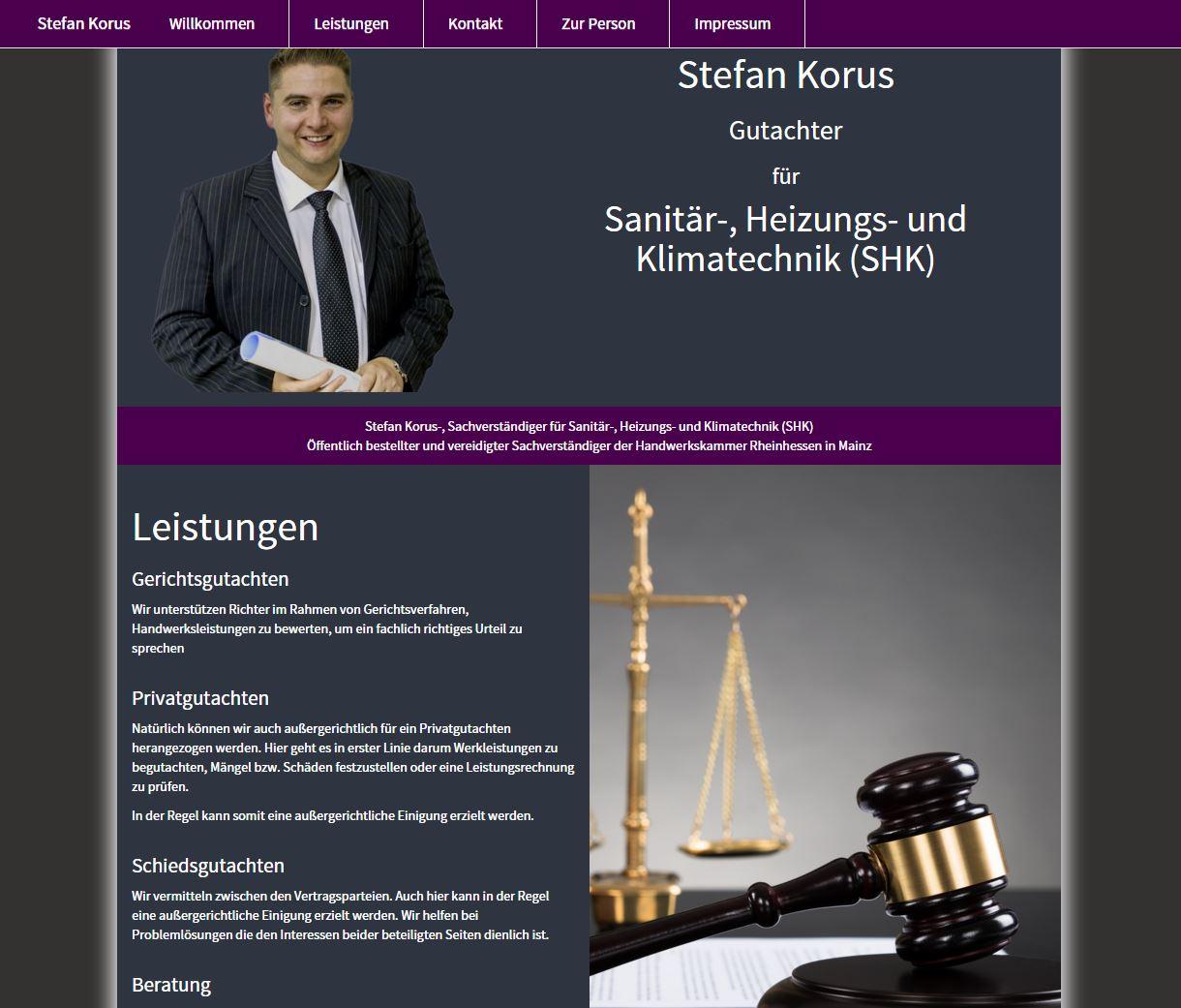 Stefan Korus SHK Gutachter